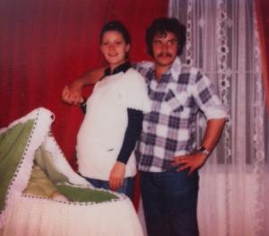 Mi papas y yo en la barriga